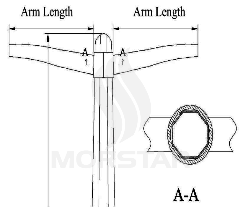 accessories frp ligting pole