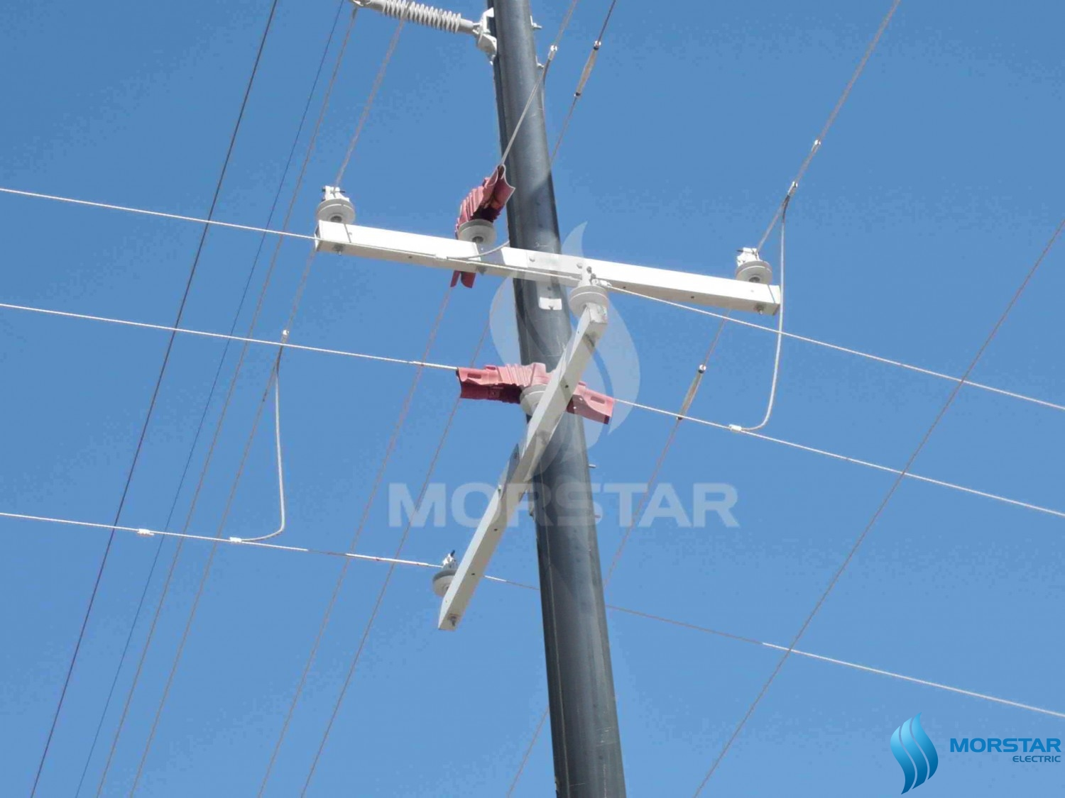 FRP power pole and FRP crossarm, FRP crossarm, composite material, power, electric, power pole, morstar