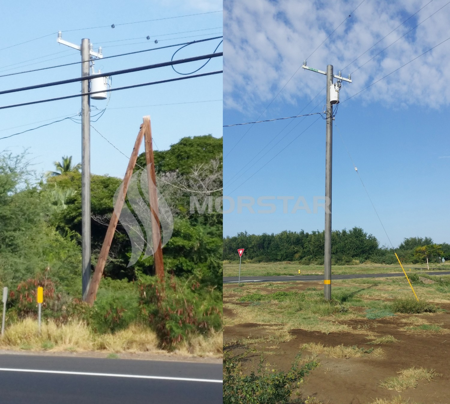 frp power pole1 1, FRP Pole composite, power pole composite, composite material, morstar